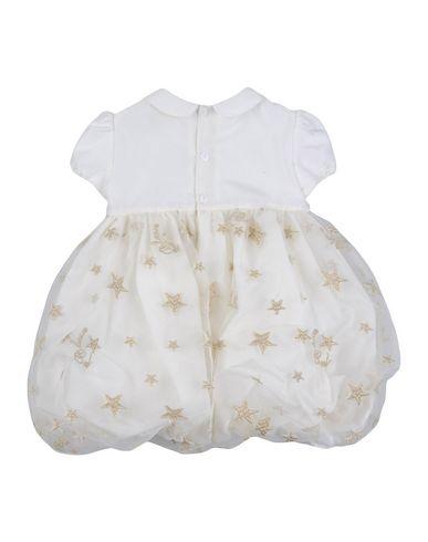 ALVIERO MARTINI 1a CLASSE Baby Kleid Weiß Größe 9 52% Viskose 23% Polyamid 19% Wolle 6% Elastan