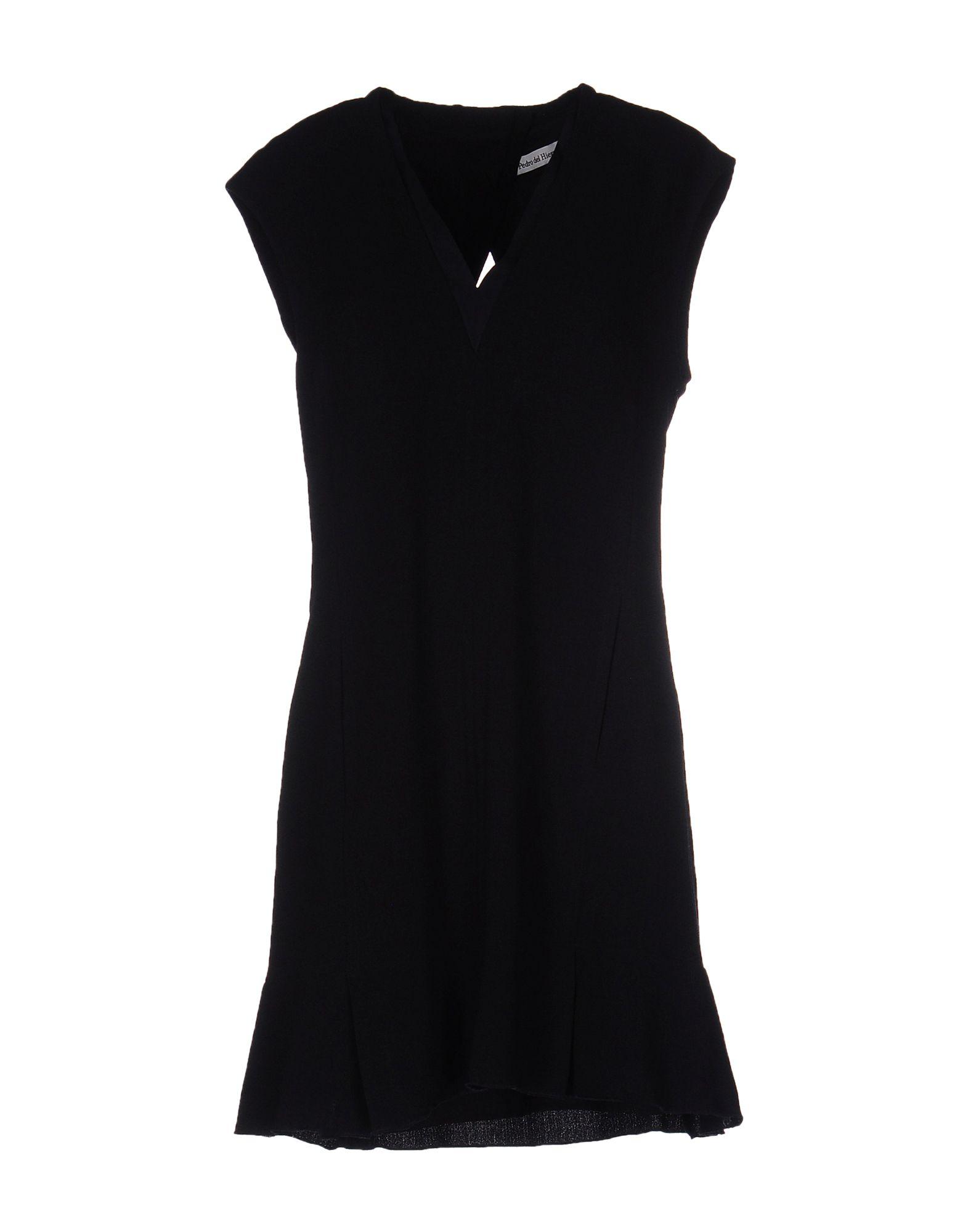 цена PEDRO DEL HIERRO Короткое платье онлайн в 2017 году