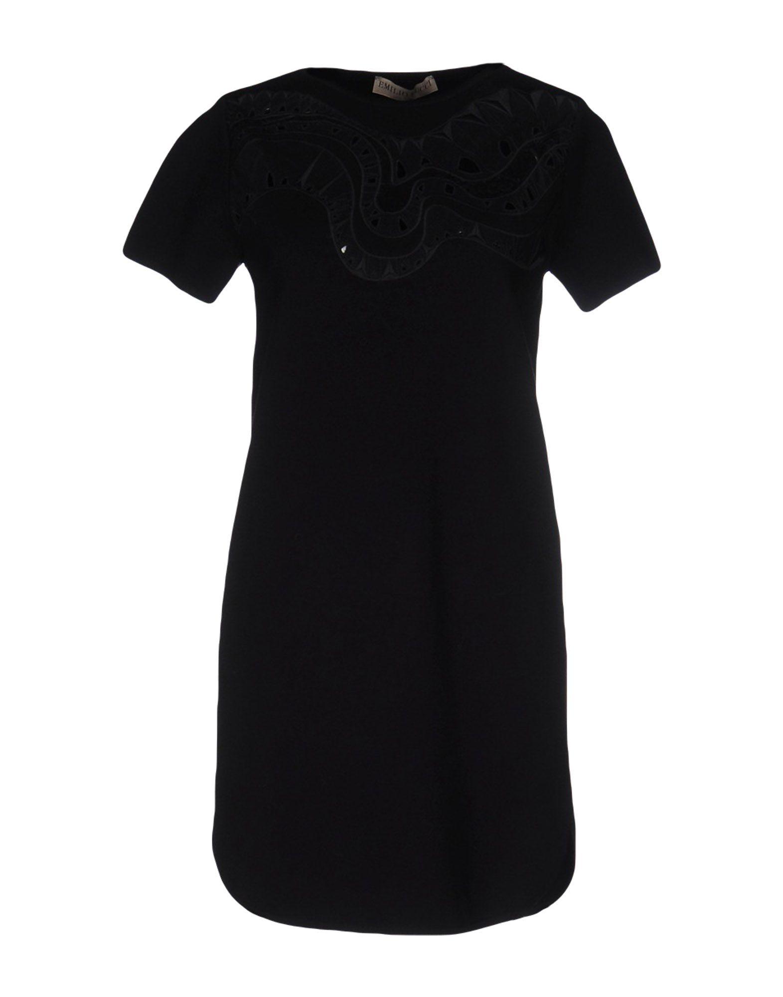 EMILIO PUCCI Damen Kurzes Kleid Farbe Schwarz Größe 5