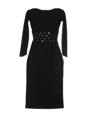 CHIARA BONI LA PETITE ROBE Damen Knielanges Kleid Farbe Schwarz Größe 5 Sale Angebote Terpe
