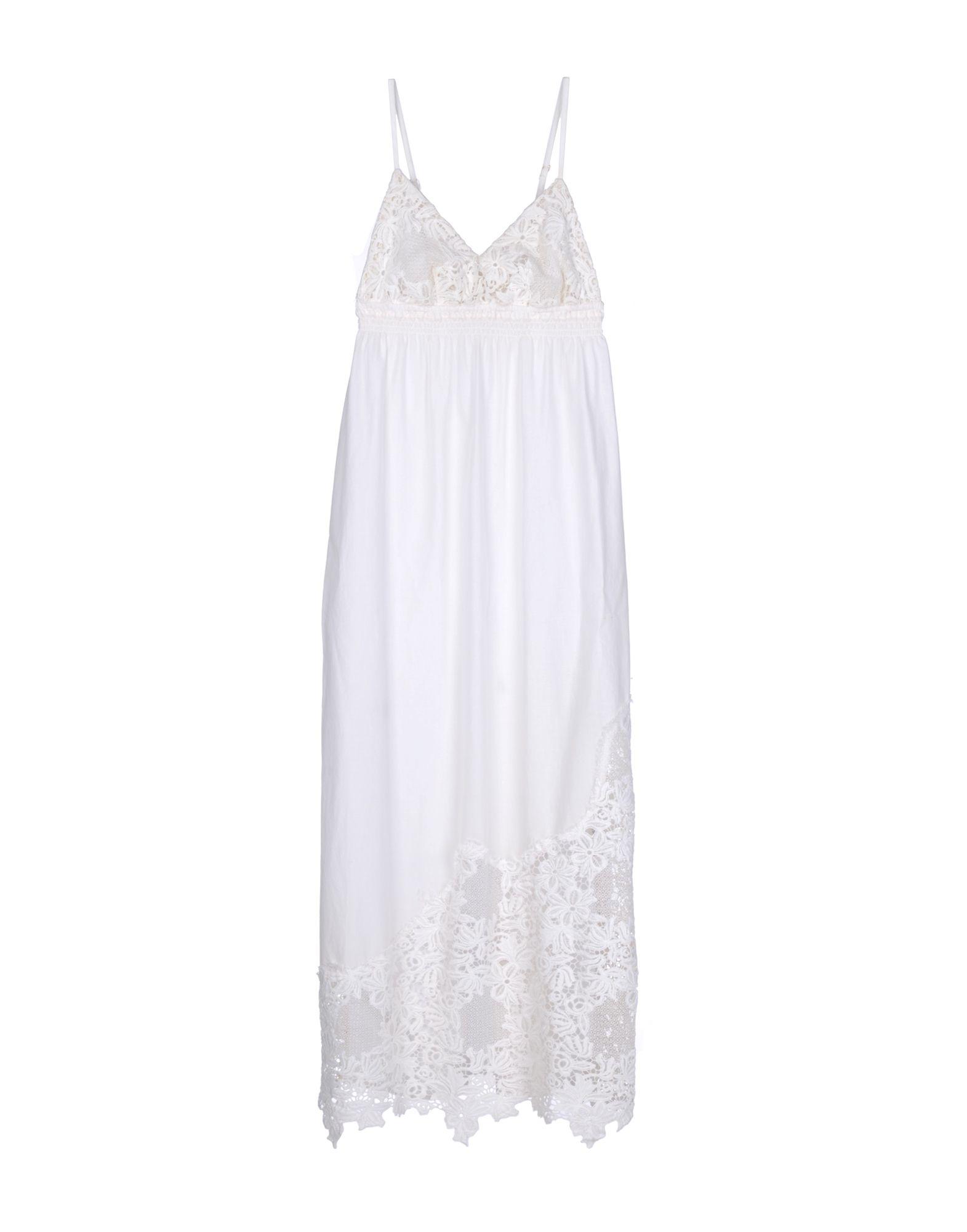 PINK MEMORIES Damen Langes Kleid Farbe Weiß Größe 4