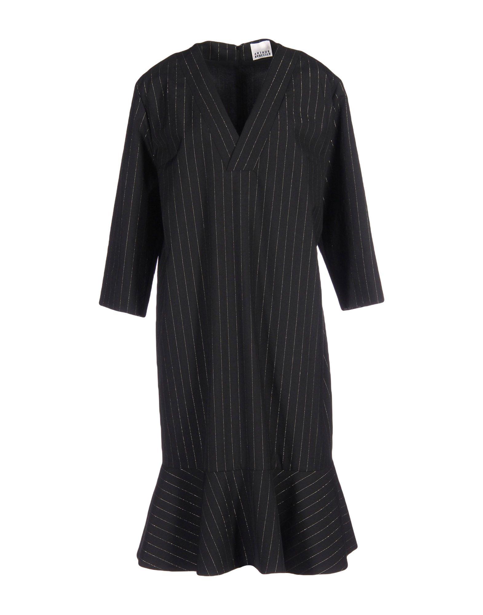 ARTHUR ARBESSER Knee-Length Dress in Black
