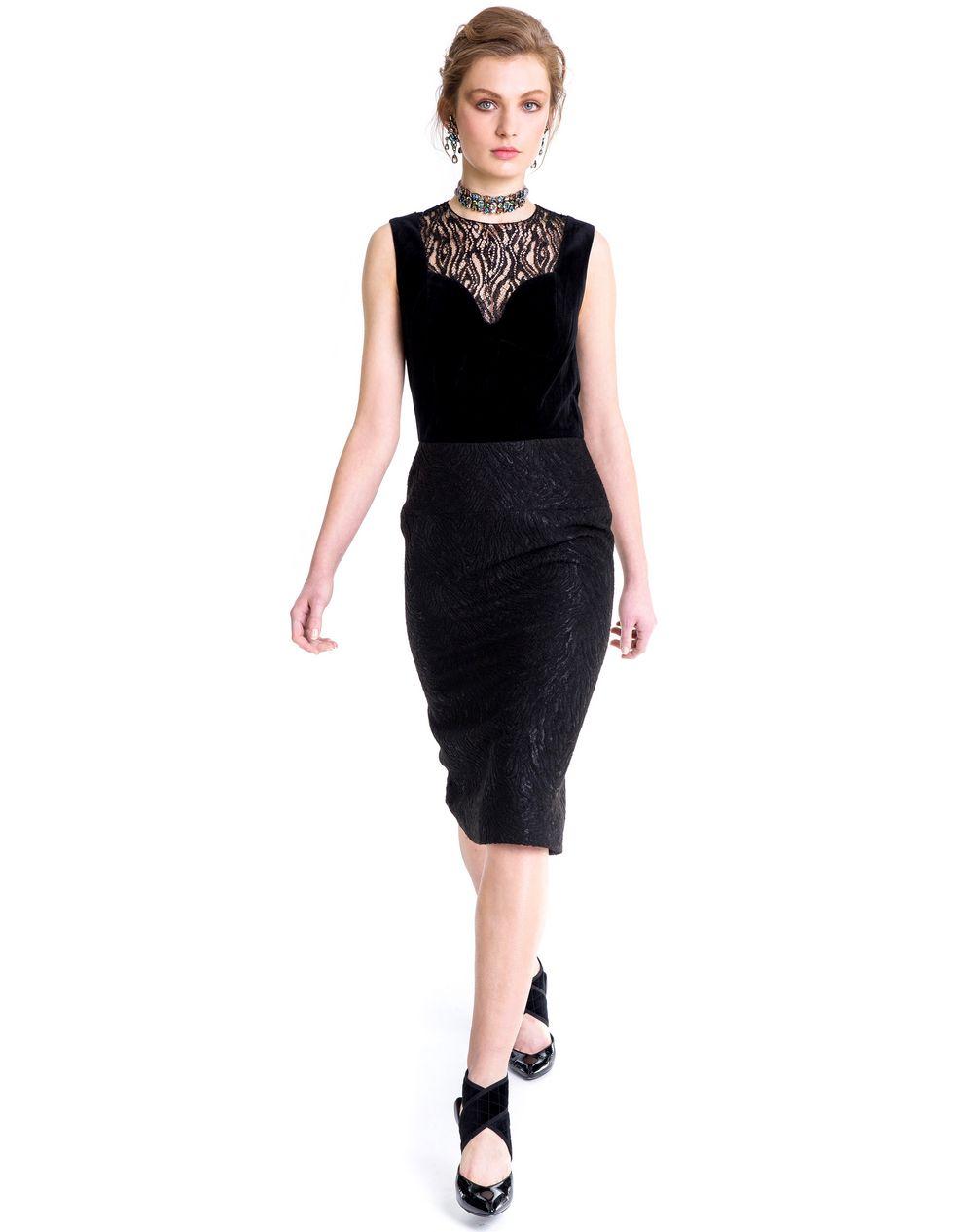 TEXTURED VELVET DRESS  - Lanvin