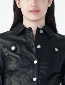 ARMANI EXCHANGE LEATHER TRUCKER Leather Woman e