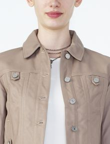 ARMANI EXCHANGE LEATHER TRUCKER Moto Jacket D e