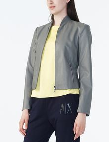 ARMANI EXCHANGE SPORTY FAUX-LEATHER JACKET PU D d