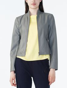 ARMANI EXCHANGE SPORTY FAUX-LEATHER JACKET Moto Jacket D f