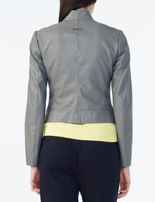 ARMANI EXCHANGE SPORTY FAUX-LEATHER JACKET Moto Jacket D r