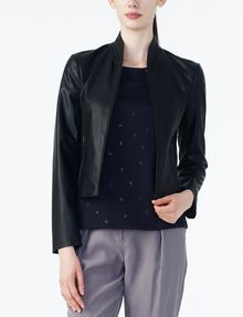 ARMANI EXCHANGE SPORTY FAUX-LEATHER JACKET PU D f