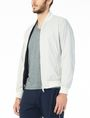 ARMANI EXCHANGE REVERSIBLE LOGO PRINT PACKABLE BOMBER Jacket Man d