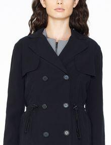 ARMANI EXCHANGE LIGHTWEIGHT LONG TRENCH Coat Woman e
