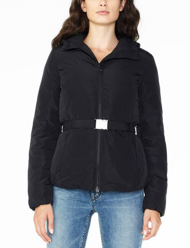 ARMANI EXCHANGE BELTED PUFFER Woman front