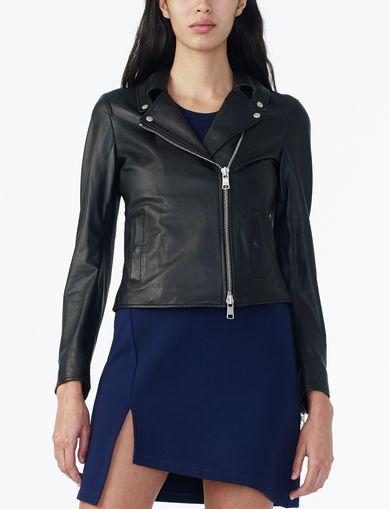 ARMANI EXCHANGE CLEAN LEATHER MOTO Woman front