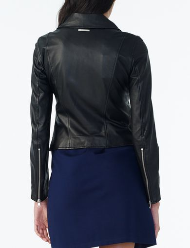 ARMANI EXCHANGE CLEAN LEATHER MOTO Woman retro