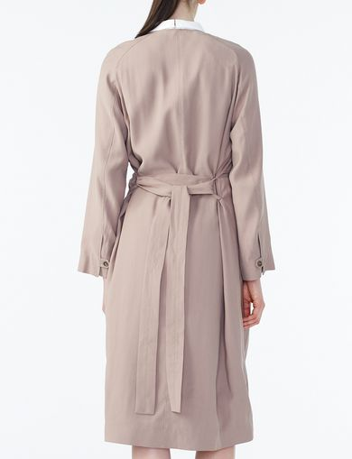 ARMANI EXCHANGE DRAPED-FRONT SOFT TRENCH Woman retro
