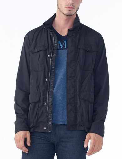 ARMANI EXCHANGE NYLON HOODED FIELD JACKET Man front