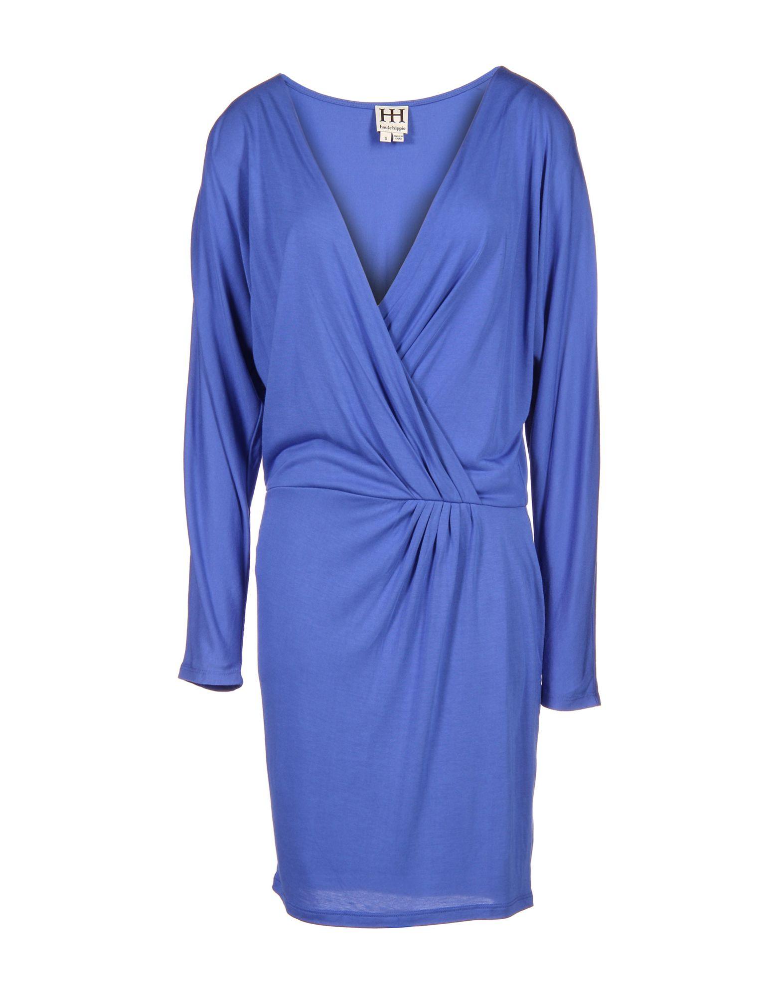 HAUTE HIPPIE Damen Kurzes Kleid Farbe Blau Größe 4