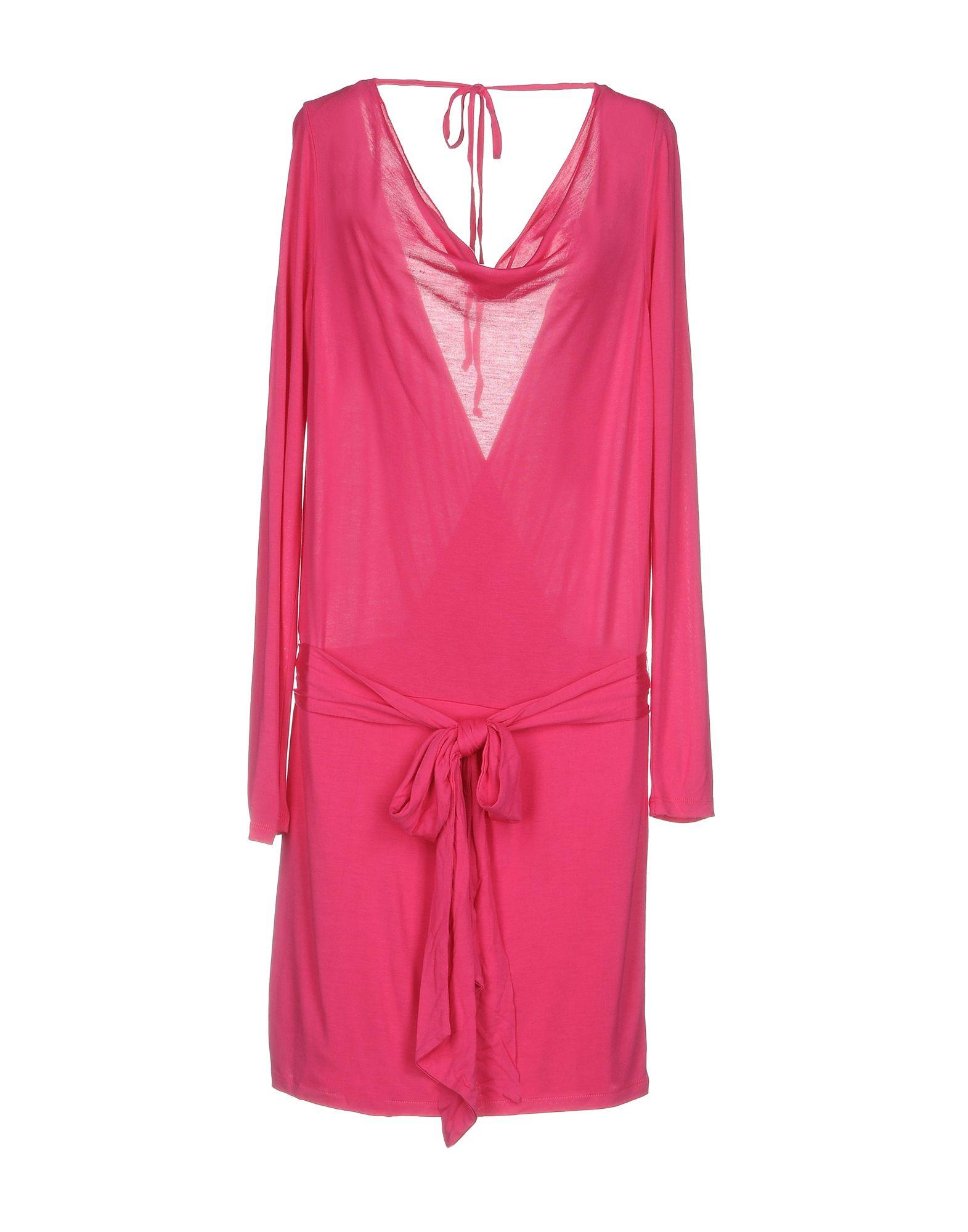 HAUTE HIPPIE Damen Kurzes Kleid Farbe Fuchsia Größe 5