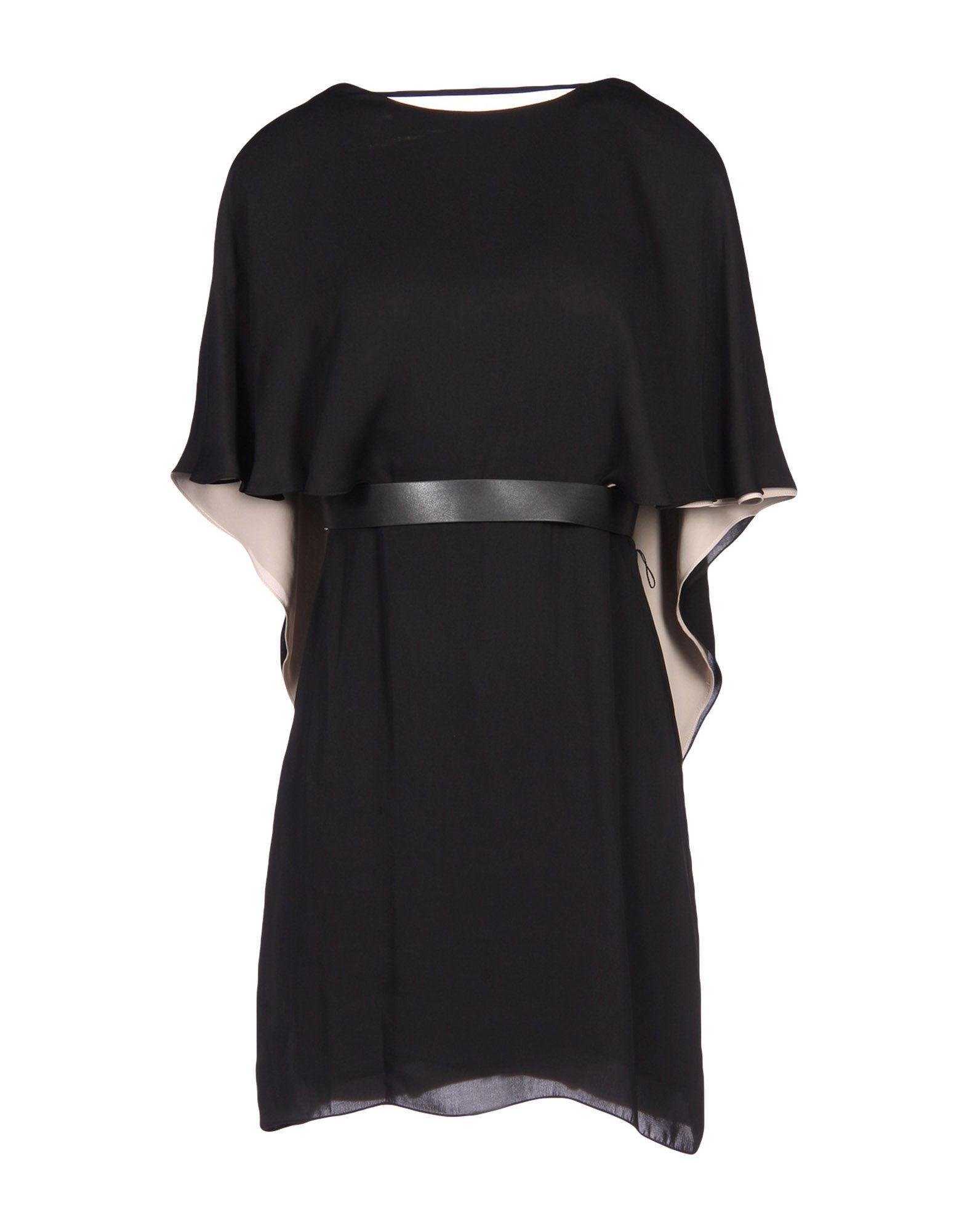 HALSTON HERITAGE Damen Kurzes Kleid Farbe Schwarz Größe 7