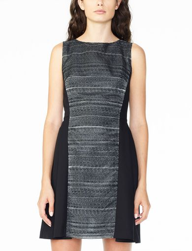 ARMANI EXCHANGE JACQUARD PANEL FIT-AND-FLARE Woman front