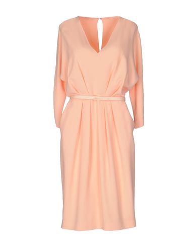 Купить Платье до колена лососево-розового цвета