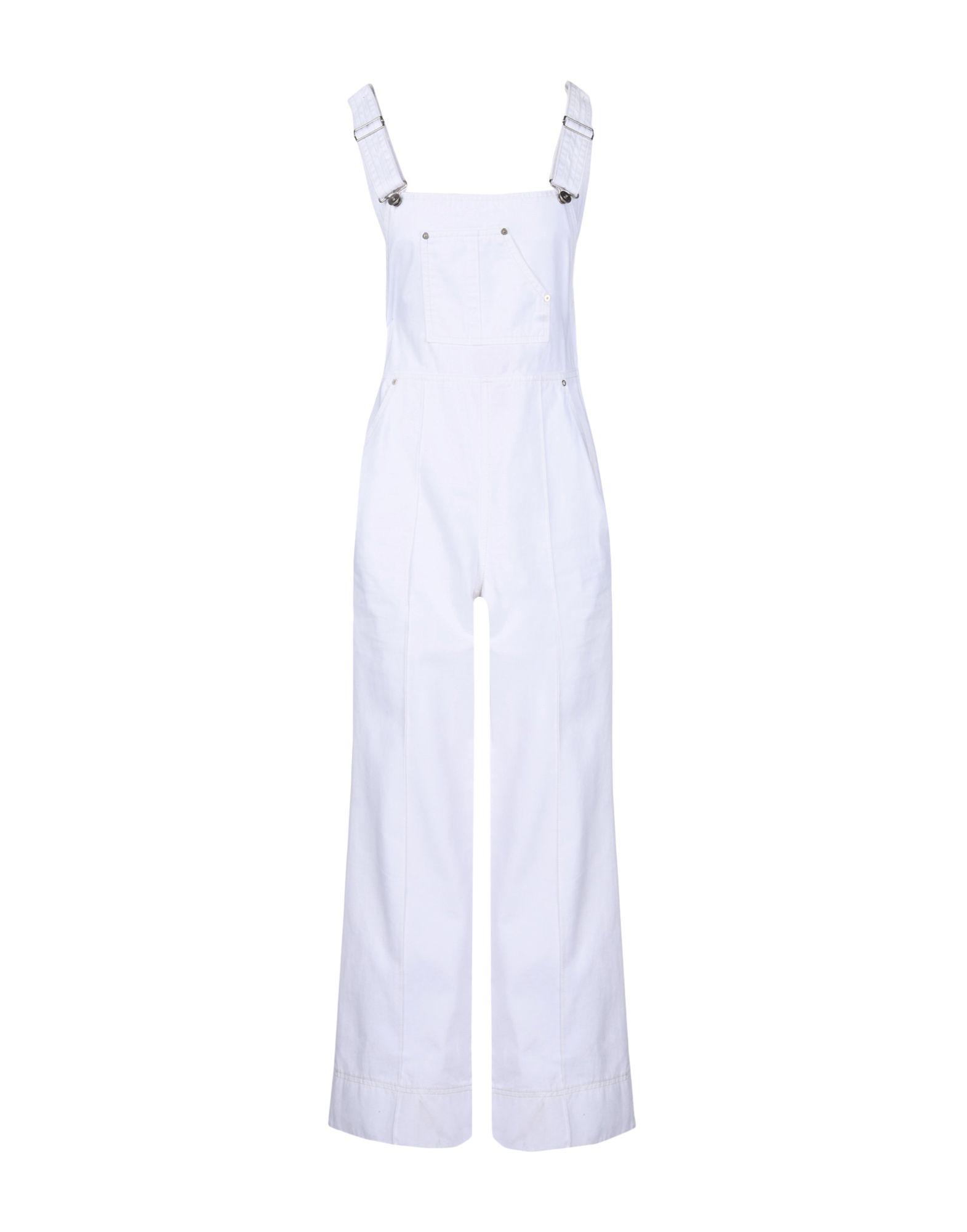 《期間限定セール中》LUCKY CHOUETTE レディース パンツジャンプスーツ ホワイト 36 コットン 100%