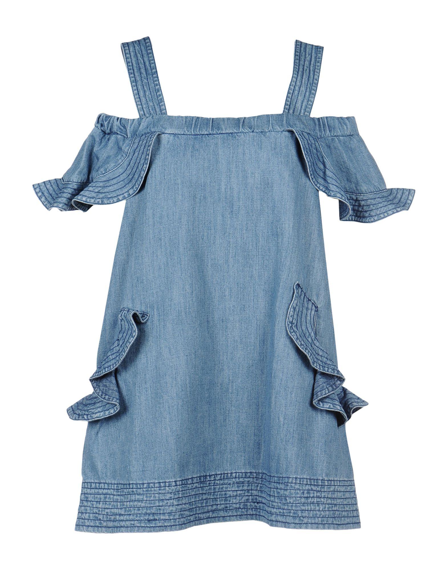 《期間限定セール中》LUCKY CHOUETTE レディース ミニワンピース&ドレス ブルー 36 コットン 100%