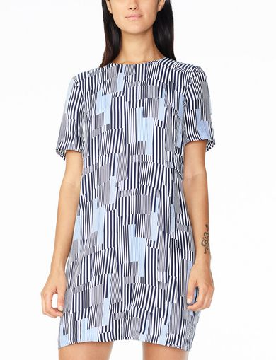 ARMANI EXCHANGE LAYERED-BACK TEE DRESS Woman front