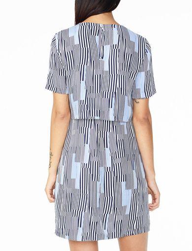 ARMANI EXCHANGE LAYERED-BACK TEE DRESS Woman retro