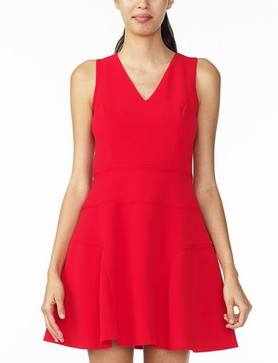 ARMANI EXCHANGE SEAMED V-NECK FIT-AND-FLARE Woman front