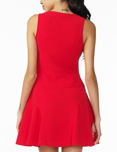 ARMANI EXCHANGE SEAMED V-NECK FIT-AND-FLARE Woman retro