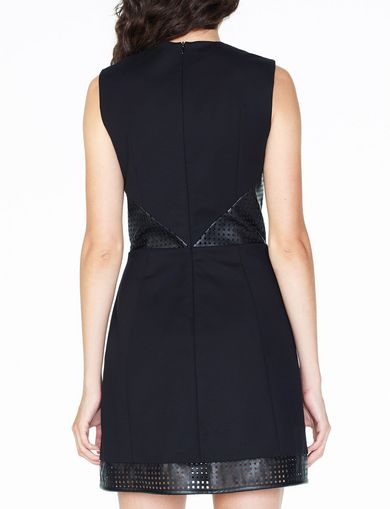 ARMANI EXCHANGE FAUX-LEATHER FIT-AND-FLARE Woman retro
