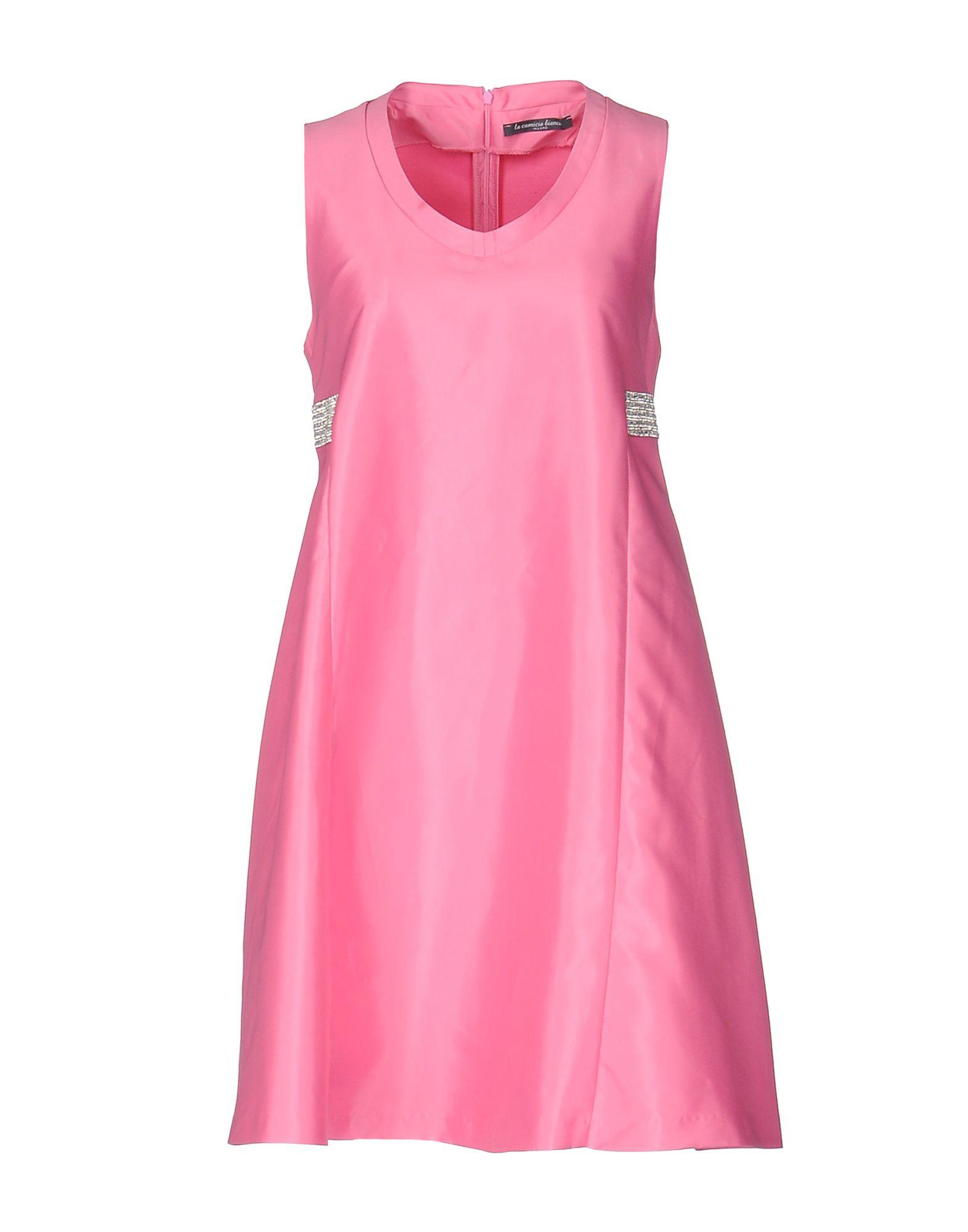 цена LA CAMICIA BIANCA Короткое платье онлайн в 2017 году