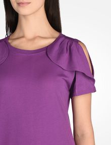 ARMANI EXCHANGE CUTOUT RUFFLE TOP S/S Knit Top D e