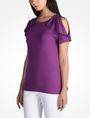 ARMANI EXCHANGE CUTOUT RUFFLE TOP S/S Knit Top Woman d