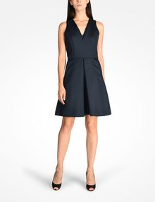 ARMANI EXCHANGE TEXTURED FIT AND FLARE DRESS Mini dress Woman a