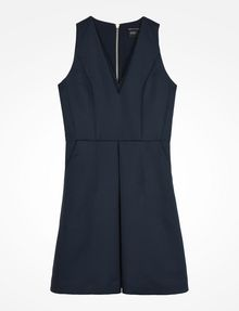 ARMANI EXCHANGE TEXTURED FIT AND FLARE DRESS Mini dress D b