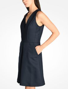 ARMANI EXCHANGE TEXTURED FIT AND FLARE DRESS Mini dress Woman d