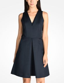 ARMANI EXCHANGE TEXTURED FIT AND FLARE DRESS Mini dress D f