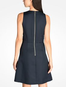 ARMANI EXCHANGE TEXTURED FIT AND FLARE DRESS Mini dress Woman r