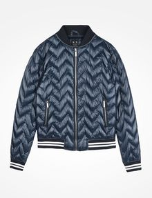 ARMANI EXCHANGE CHEVRON QUILTED PUFFER JACKET Puffer D b