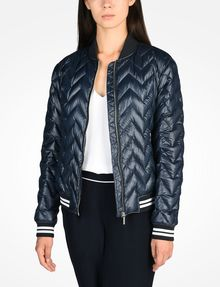 ARMANI EXCHANGE CHEVRON QUILTED PUFFER JACKET Puffer D f