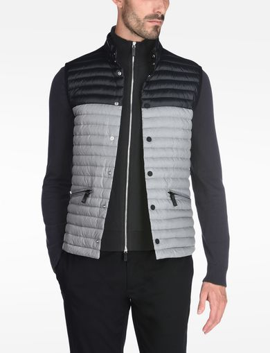 COLORBLOCK DOWN PUFFER VEST