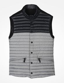ARMANI EXCHANGE COLORBLOCK DOWN PUFFER VEST PUFFER JACKET Man b