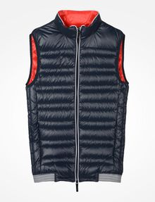 ARMANI EXCHANGE FUNNELNECK CHANNEL-QUILTED PUFFER VEST PUFFER JACKET [*** pickupInStoreShippingNotGuaranteed_info ***] b