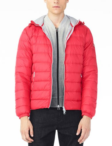 ARMANI EXCHANGE HOODED DOWN SHORT PUFFER Man front