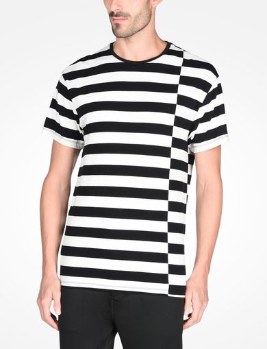 SHIFTED STRIPE CREWNECK T-SHIRT