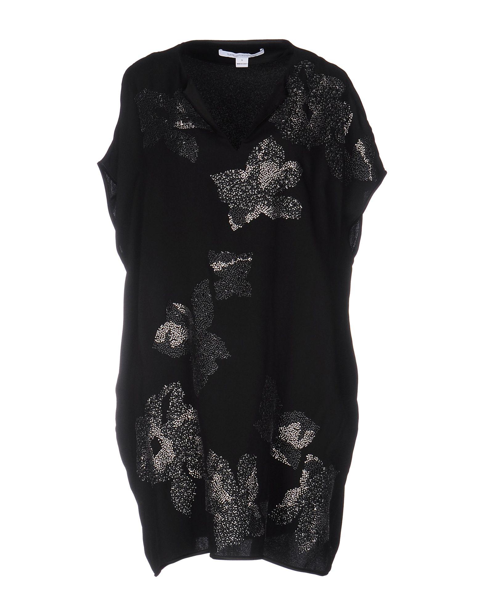 DIANE VON FURSTENBERG Damen Kurzes Kleid Farbe Schwarz Größe 6