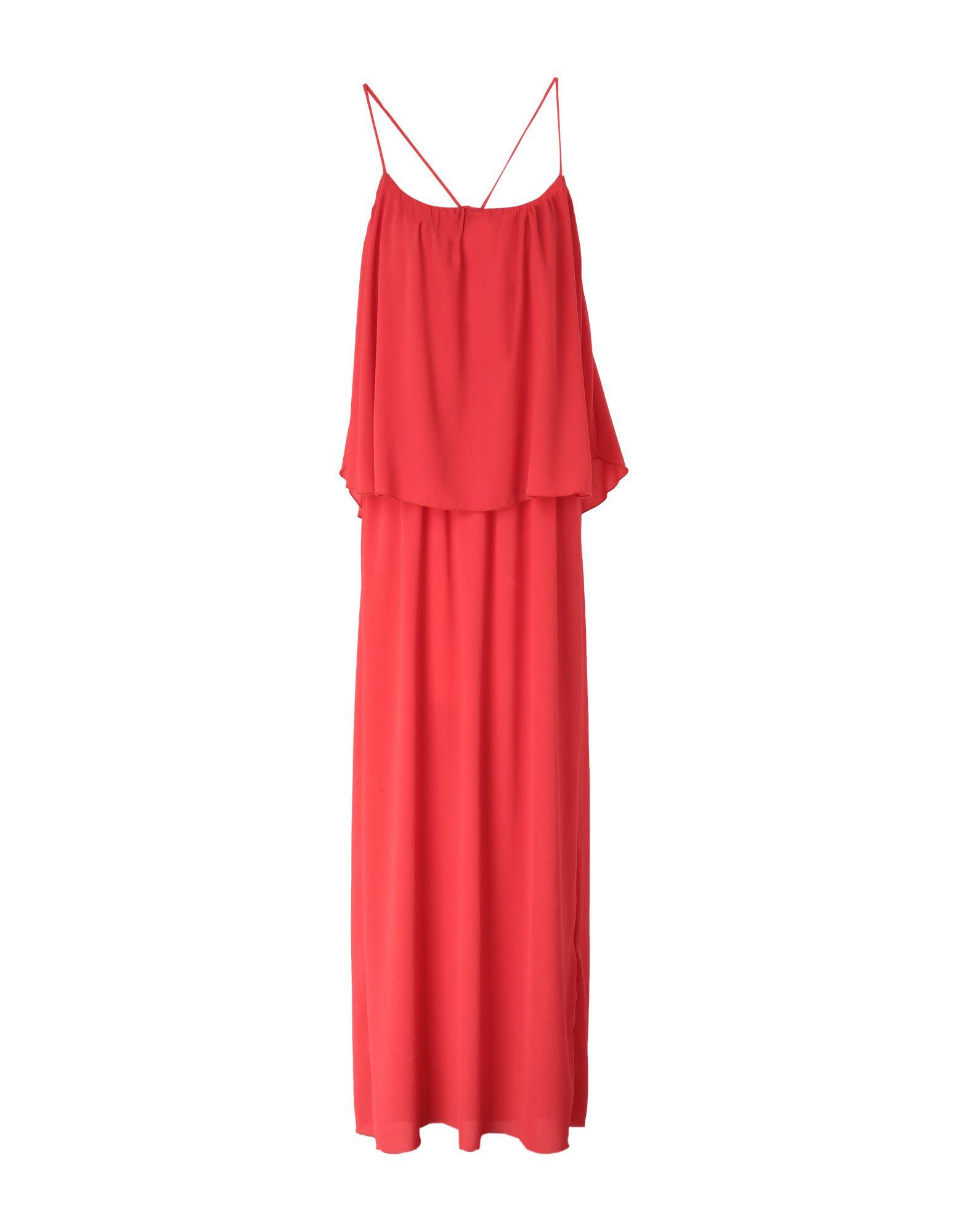 SOALLURE Длинное платье платье длинное без рукавов из кружева bina
