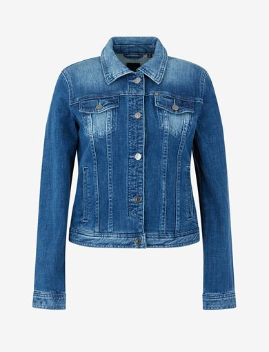 WASHED INDIGO DENIM TRUCKER JACKET